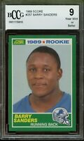 1989 Score #257 Barry Sanders Rookie Card BGS BCCG 9 Near Mint+