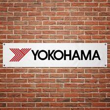 Yokohama Tyres Banner Garage Workshop PVC Sign Trackside Motorcycle Display