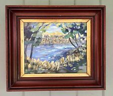 "Listed Canadian Artist Mary E Crawford Impressionistic Oil Painting "" In The Bay"