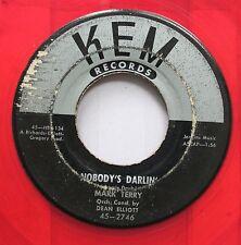 Hear! Northern Soul Popcorn Red Vinyl 45 Mark Terry - Nobody'S Darlin' / The Pri