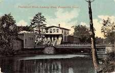 Forestville Connecticut Pequabuck River Waterfront Antique Postcard K38909