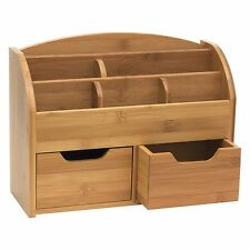 "Lipper Bamboo Space-saving Desk Organizer - Desktop, Wall Mountable - 5.4"" (809)"
