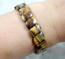 Natural Tiger Eye Stone Gemstone Beads Men Woman Jewelry Bracelet Bangle