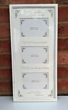 White Triple Photo Frame Wall Home Memories Friends Family Fits 6x4 Pictures