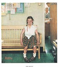 "Norman Rockwell print ""DISCIPLINARY ACTION"" or ""THE SHINER"" gender LGBTQ girl"