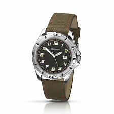 Stainless Steel Case Fabric/Canvas Strap Analog Wristwatches