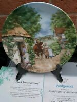 """Wedgwood Collectors Plate """" The Homecoming"""", Boxed"""