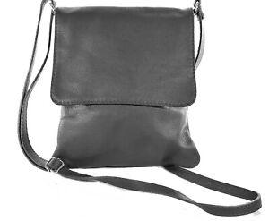 Echt Leder Damen Tasche  Umhängetasche  Schultertasche grau MC1022