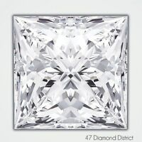1.65ct. F-VVS1 Excellent Cut Princess AGI Certified Diamond 6.62x6.42x4.72mm
