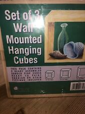 Brand New Set Of 3 Ready Assembled Wall Mounted Hanging Cubes x2