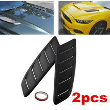 2pcs Auto Car Simulation Air Flow Decor Intake Hood Scoop Bonnet Vent Cover