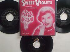 LOT OF 4  ' DINAH SHORE ' HIT 45's+1P(Copy)[Sweet Violets]    THE 50's!