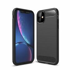 "For Apple iPhone 11 (6.1"") Case Carbon Fibre Gel Cover Ultra Slim"