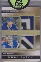 Hedman/Bishop 2014-15 Premier Dual Patch 03/15 Tampa Bay Lightning Both 3 Color
