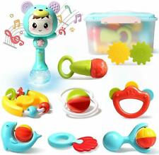 Baby Rattles Set Grab Teether Shake 10pcs Toddler Educational Toys with Box New