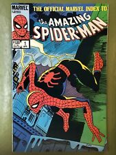 OFFICIAL MARVEL INDEX TO THE AMAZING SPIDER-MAN #1 AF 15 Unused Cover On Back