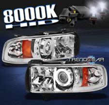 1994-2001 DODGE RAM CCFL HALO LED PROJECTOR HEAD LIGHTS+HID 8000K 1500 2500 3500