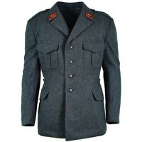 Genuine Swiss army wool jacket Switzerland military issue uniform grey