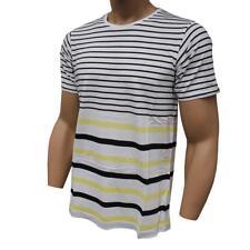 Oakley PRIMARY CREW Stripe T-Shirt Size M Medium White Mens Cotton Shirt