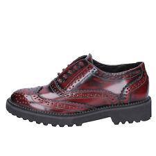scarpe donna FRANCESCO MILANO 35 classiche bordeaux pelle BX331-35