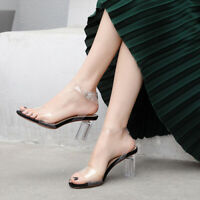 Summer Crystals high heels sandals lady's party pumps shoes transparent shoes