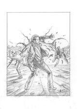 "DAVIDE FURNO' - Tavola originale Saguaro copertina n.8 ""Bordertown"""