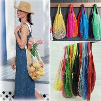 1Pc Reusable String Shopping Grocery Bag Shopper Cotton Mesh Net Woven Mesh NEW
