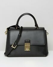 BNWT BLACK TED BAKER TOP HANDLE TOTE BAG WITH LOCK DETAIL Rrp: £300