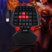 Delux T9 Portable Mini Gaming Keypad One Handed Keyboard USB Wired Keypad