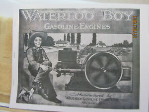 1911 Early Waterloo Gas Engine  B/W Catalog 1 1/2 to 12HP, cream separators