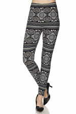 Leggings Black W/Print TC/102 Buttery Soft Always Brushed PLUS SIZE
