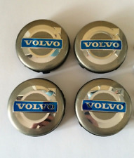 4x64mm VOLVO Silver Wheel Center Caps Logo Emblem Badge Hub Caps Rim Caps