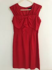 Country Road Red Silk Dress Size 4 XS