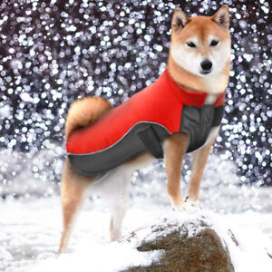 Dog Winter Clothes Outdoor Jacket Waterproof Reflective Fleece Padded Coat S-5XL