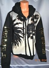 Victorias Secret Pink Palm Trees Sequins Bling LIMITED EDITION Soft Hoodie NWT L