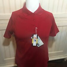 Extreme Performance Women's Moisture Wicking Red SS  Polo Shirt 75056 NWT SZ S
