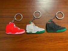 Nike Air Yeezy 2 Sneaker Shoe 2D Keychain Red October/ Pure Platinum/ Solar Red