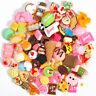 10Pcs/set Mini Fast food&Rilakkuma Soft Cute Slow Rising Toy Collection Plastic