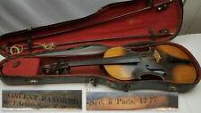 "Antique Repro? 3/4 size 24"" Vincent Panormo 1776 Violin Paris Weidlich Bow Case"