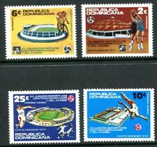 DOMINICAN REPUBLIC 1974 CENTRAL AMERICAN GAMES - CYCLING - BASKETBALL MINT SET!
