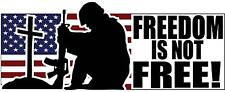 "Freedom is Not Free Sticker Decal 2.75"" x 6.75"" Army Navy Air Force Marines POW"