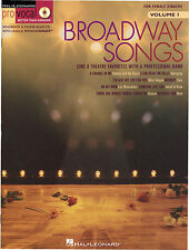 BROADWAY SONGS Female Singers Audition Music Book & CD