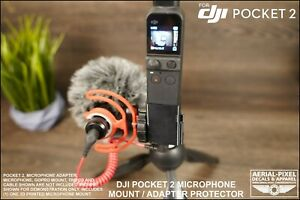 DJI Pocket 2 Microphone Mount For Cold/Hot Shoe Mics for 3.5mm Mic Adapter Osmo