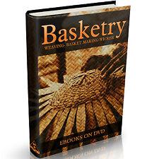 Rare Basketry Books on DVD Weaving Willow Basket Art Raffia Weave Wicker Woven