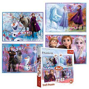 Trefl 4 In 1 35 + 48 + 54 + 70 Piece Kids Disney Frozen 2 Journey Jigsaw Puzzle