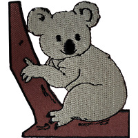 Koala Bear Patch Iron Sew On Clothes Australia Animal Embroidered Badge Applique