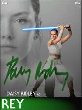 Topps Star Wars Card Trader Rey Dual Perceptions Green Signature Digital cc386