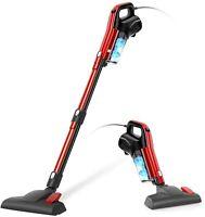 GeeMo 17Kpa Suction Corded Vacuum Cleaner Handheld Stick HEPA For Hard Floor Red