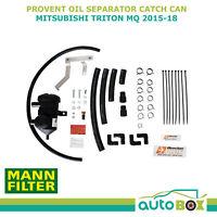 Oil Separator Catch Can Provent for Mitsubishi Triton MQ 2015-2018 4N15