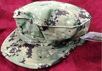 NWT NWU Type III Navy Seal AOR2 Digital Woodland UTILITY 8 Point CAP Hat 7 3/8